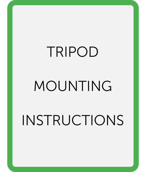 Tripod mounting instructions